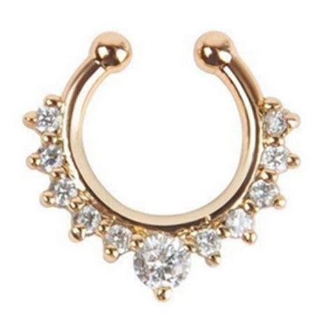 Fake Nose Ring Septum - Save up to 75% OFF   Rhalyns