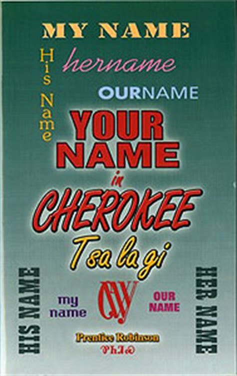Your Name In Cherokee - All Things Cherokee