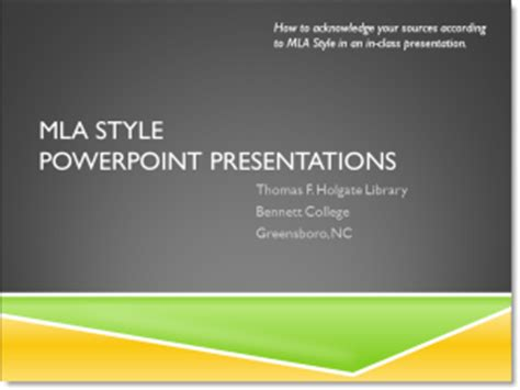 MLA Style - Holgate Library Research Guides
