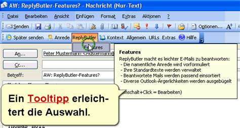 ReplyButler - Textbausteine fuer Outlook 2018 - Full Free