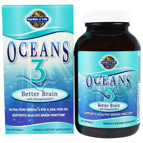 Oceans 3 Better Brain with OmegaXanthin 90 Softgels in dubai