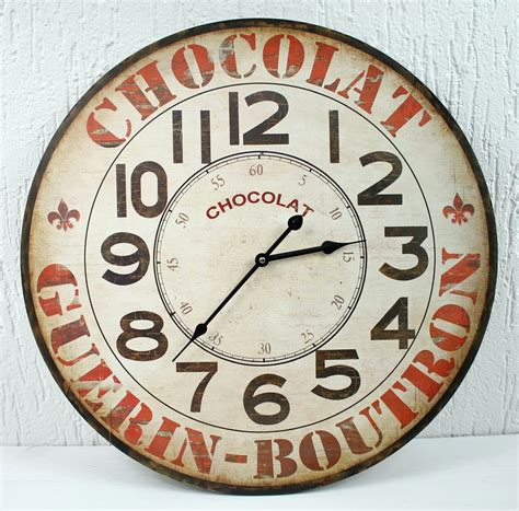 Wall Clock From Metal With Paper Clips/Memo Board-D = 44cm