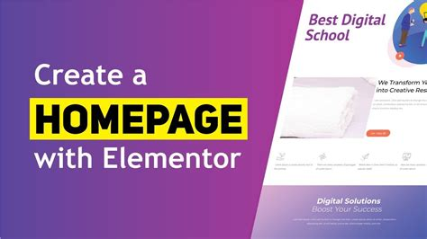 How to Create a Homepage Using Elementor 2020 - YouTube