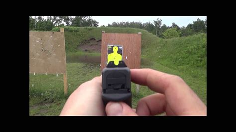Trijicon hd night sights POV and some shooting - YouTube