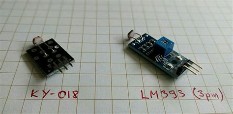 Light sensor modules KY-018 and LM393 (3 and 4 pin) for a