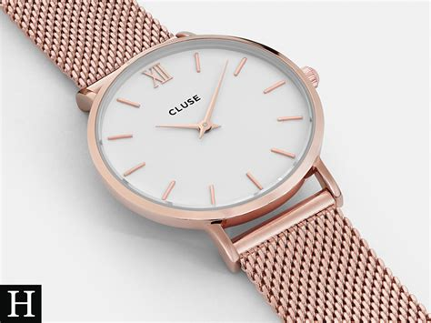 Cluse - Minuit Mesh Rose Gold/White Watch