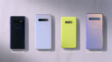 Samsung Galaxy S10 Official Colors - YouTube