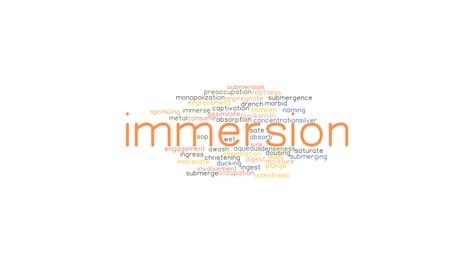 IMMERSION: Synonyms and Related Words