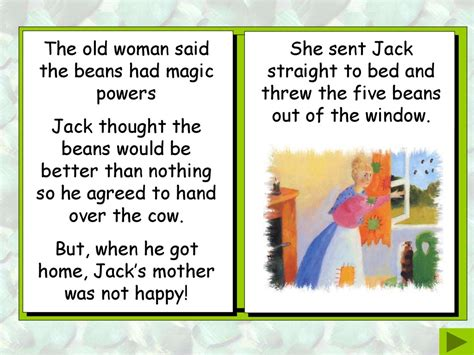 Jack and the Beanstalk Story retold by Bev Evans