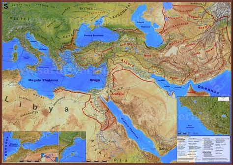 The Ancient Mediterranean world during the reign of the