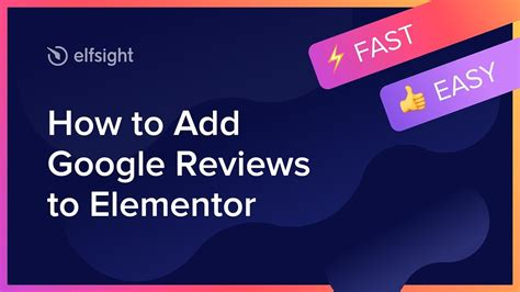 How to Add Google Reviews to Elementor (2020) - YouTube